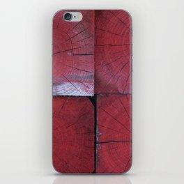 4 red wooden blocks iPhone Skin