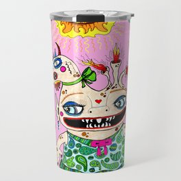 Little Baby Girl She-Beast and Friends, Pink Travel Mug