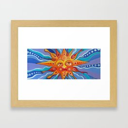 Sun For Vilaró Framed Art Print