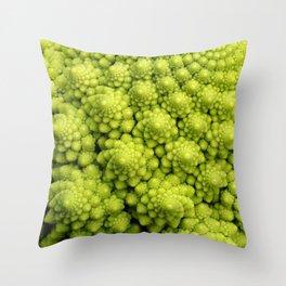 Brassica Fractal Throw Pillow