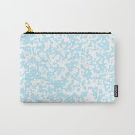 Small Spots - White and Light Blue Carry-All Pouch