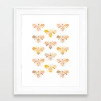 bees Framed Art Prints featuring Bees by Heleen van Buul