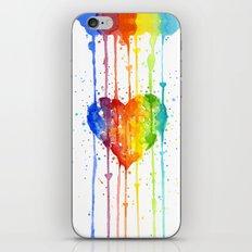 Heart Rainbow Watercolor Love Wins Colorful Splatters iPhone & iPod Skin