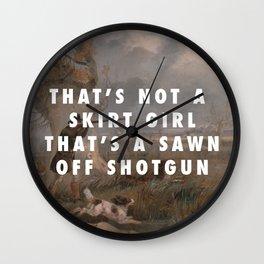 Suck it and Shoot Wall Clock