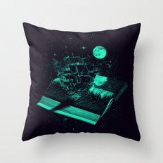 Crossing the Rough Sea of Knowledge   Throw Pillow
