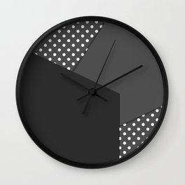 Grey abstract abstract Wall Clock