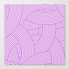New Weave in Radiant Orchid Canvas Print