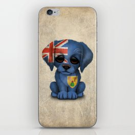 Cute Puppy Dog with flag of Turks and Caicos iPhone Skin