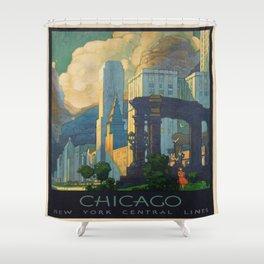Vintage poster - Chicago Shower Curtain