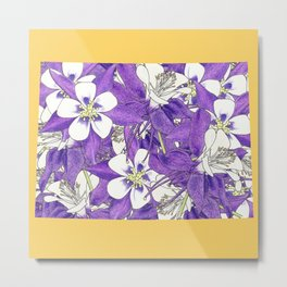 Colorado in Flowers Metal Print