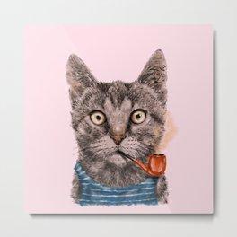 Sailor Cat IX Metal Print