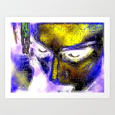 Power in a Face Art Print