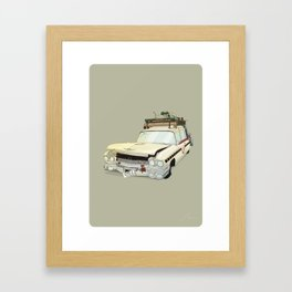 80´s tv and films cars (ghostbusters) Framed Art Print