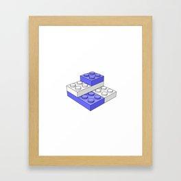 Bricks - Blue Framed Art Print