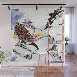 Hunter S Thompson by BINDU Wall Mural