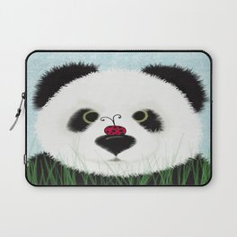 The Panda Bear And His Visitor Laptop Sleeve