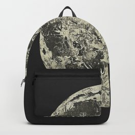 Telescopic View of the Moon | Vintage Astronomy Illustration Backpack