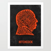 hitchcock Art Prints featuring Hitchcock by Eighty-Sixed