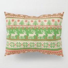 Ugly Christmas Sweater Digital Knit Pattern Pillow Sham