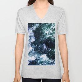 Wild ocean waves Unisex V-Neck