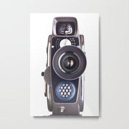 Retro hobbies movie camera Metal Print