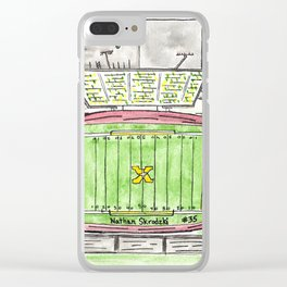 Mitchell, Custom watercolor, St Xavier Field Clear iPhone Case