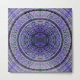 Zentangle Mandala Metal Print