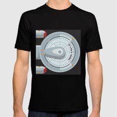 Enterprise - Star Trek Black Mens Fitted Tee X-LARGE
