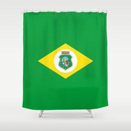 flag of ceara Shower Curtain