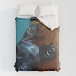 Leo the Boxer Dog Portrait Comforters