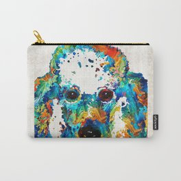 Colorful Poodle Dog Art by Sharon Cummings Carry-All Pouch