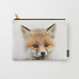 Baby Fox, Baby Animals Art Print By Synplus Carry-All Pouch