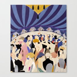 Dancing couples in jazz age nightclub Canvas Print