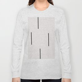 Mudcloth white black dashes vectical Long Sleeve T-shirt