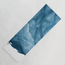 4 am Thoughts [5]: a minimal abstract painting in blue by Alyssa Hamilton Art Yoga Mat