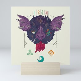 Runic Bat Mini Art Print