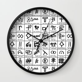 Hobo Code Wall Clock