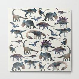 Dinosaurs Pattern Metal Print