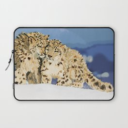Snow leopards Laptop Sleeve