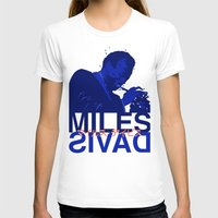 miles davis T-shirts featuring Miles Red Variant  by Dave P