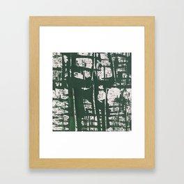 NYC Walls (zelen) Framed Art Print