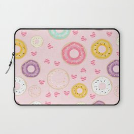 hearts and donuts pink Laptop Sleeve