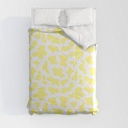 Yellow Cow Spots Print Comforters