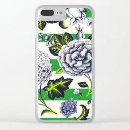 Modern Vintage Florals Clear iPhone Case
