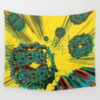 cyberpunk Wall Tapestries featuring Coral Reef by Obvious Warrior