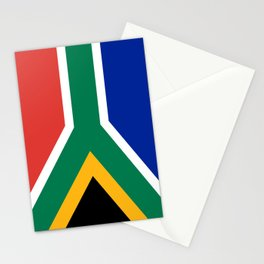 South African flag of South Africa Stationery Cards