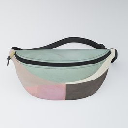 mid century winter shapes painted 4 Fanny Pack