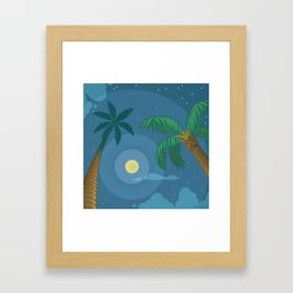 Supermoon Over Aruba Framed Art Print