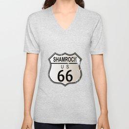 Shamrock Route 66 Unisex V-Neck