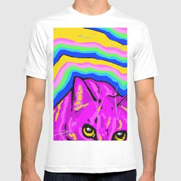 trippy kitty I T-shirt
